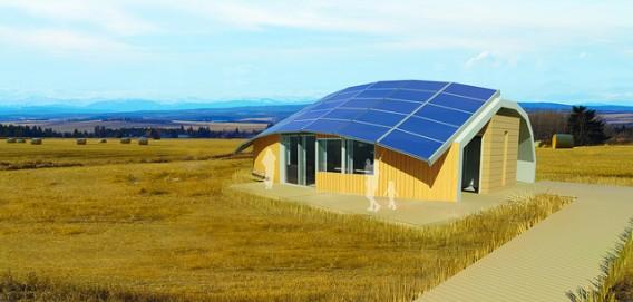 Международный конкурс энергоэффективных домов Canada-Technological-Residence-Traditional-Living1