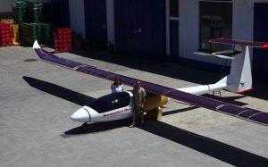 Двухместный самолет на солнечных батареях