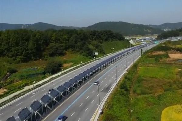 В Южной Корее велодорожку покрыли солнечными панелями
