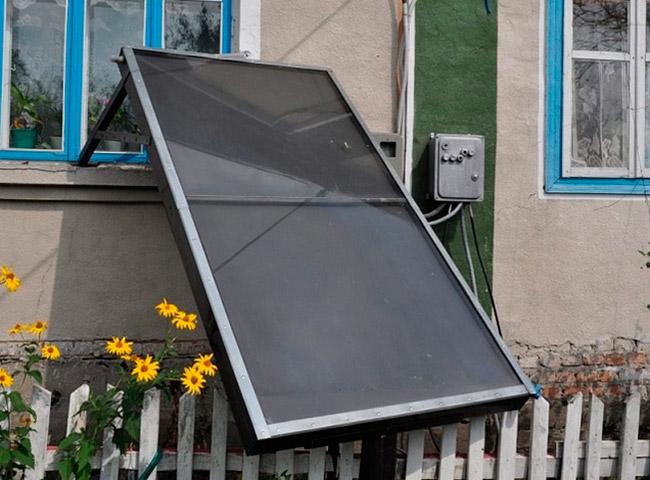 Солнечный коллектор на окно